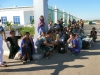 Turkmen border at Dasoguz, women waiting patiently