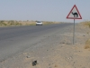 Camel roadsign in Turkmenistan